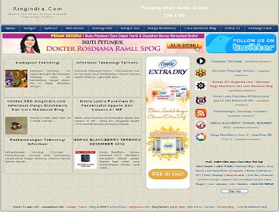 Aingindra.com – Informasi Harga Blackberry Dan Cara Membuat Blog
