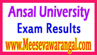 Ansal University B.Dec (Interior Design) VIIth Sem Regular 2016 Exam Results