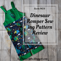 Burda 9424 Dinosaur Romper Sewing Project