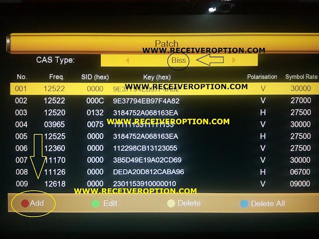 SUPER GOLDEN LAZER 14A HD RECEIVER BISS KEY OPTION