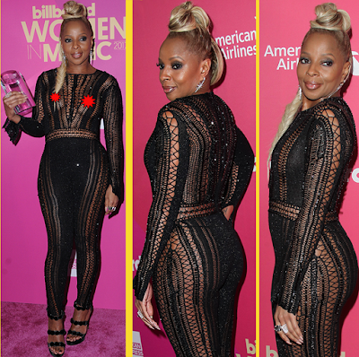 Erm, so when did Mary J Blige start showing off her nipples on the red carpet?