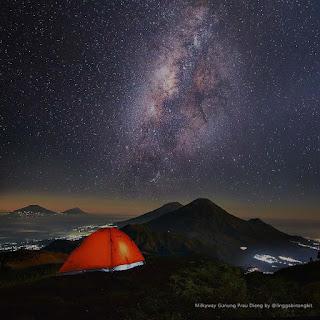 Milky way prau gunung