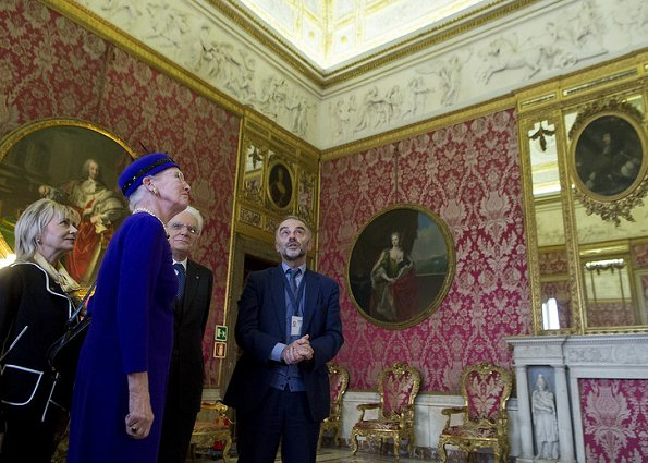 Queen Margrethe II of Denmark visited the Danish Institute in Rome