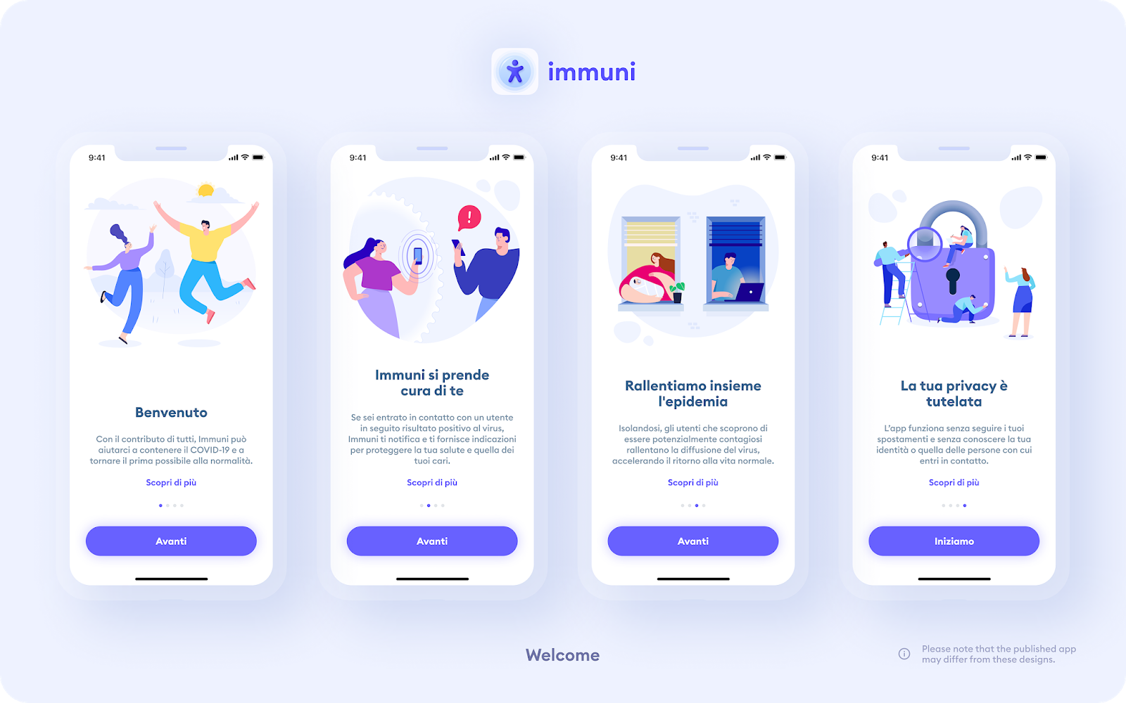 Welcome-to-Immuni-app