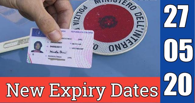 New Expiry Date | Foglio Rosa,Patente di Guida, CQC