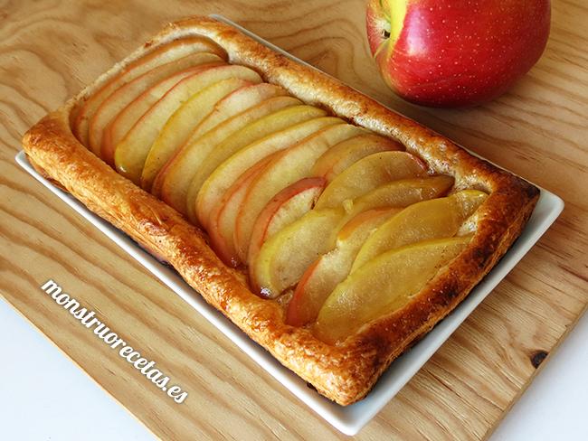 Hojaldre de manzana. Receta fácil