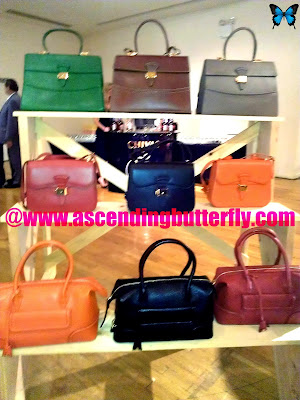 DRESSAGE Collection on display, handbags, leather