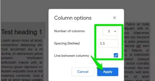 Cara Membuat Tulisan Kolom Koran di Google Documents-4