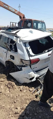 """حادث سير مروع ينهي حياة """"عريس وعروسه"""" واثنين من عائلته في كركوك"""