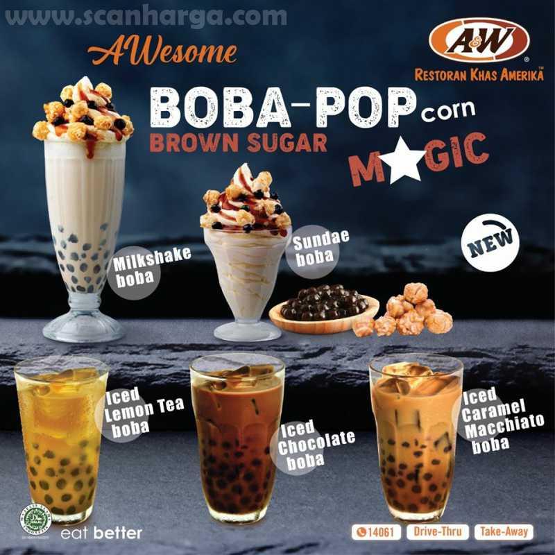 Baru! Paket Boba Series A&W Restoran Harga Mulai Rp 14Ribuan!