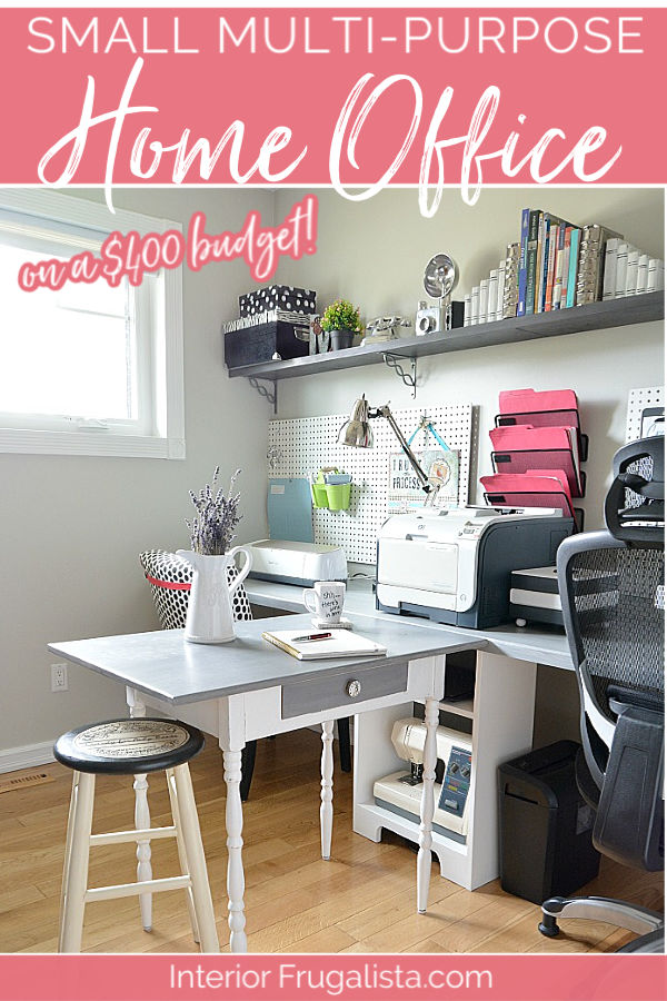 Small Multi-Purpose Home Office Makeover