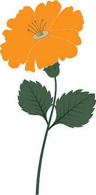 Free download Orange Chrisant  Flower Vector And Swirl Royalty Free Vecto image floral pattern, free use royalty-free, available the file format Ai ready to print