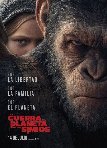 War For The Planet of The Apes (El Planeta de los Simios: La Guerra) (2017) 720p y 1080p WEBRip mkv Dual Audio AC3 5.1 ch