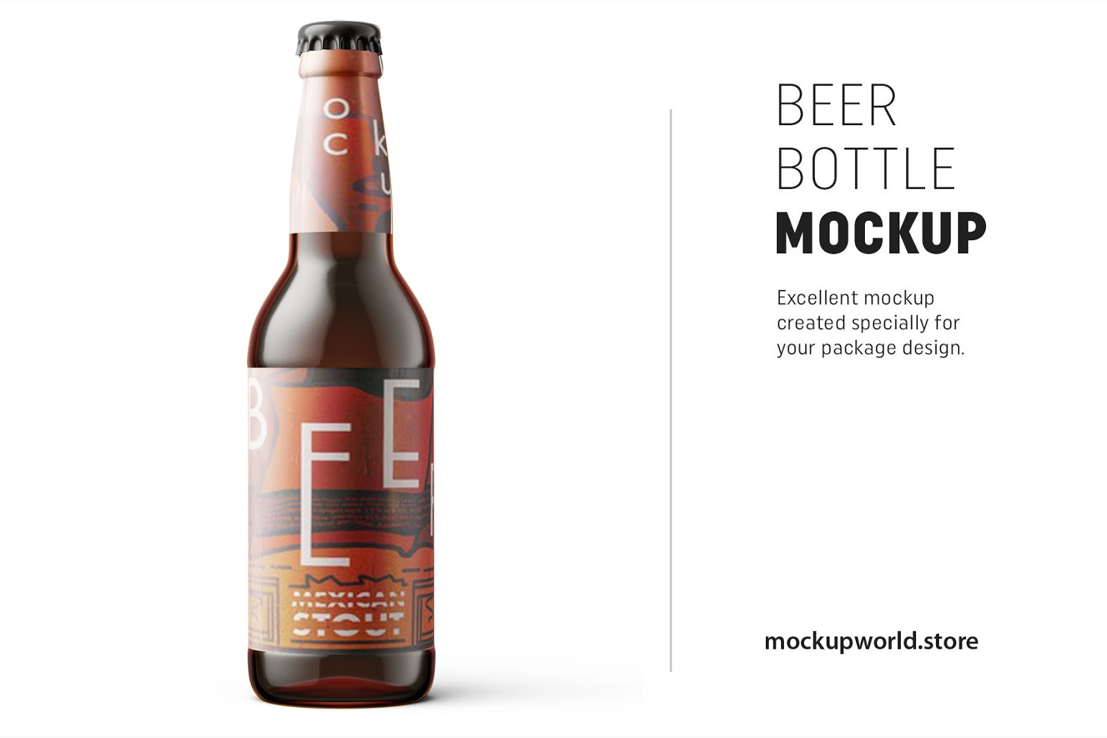 Beer Bottle Mockup Freebie