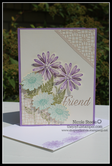 Spring- like card using Stampin' Up!'s Daisy Lane set and punches by Nicole Steele The Joyful Stamper