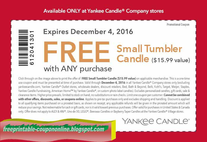 picture relating to Sheplers Printable Coupons called Yankee candle discount codes printable 2018 / Proflowers totally free