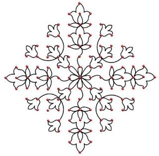dot rangoli designs made with flowers