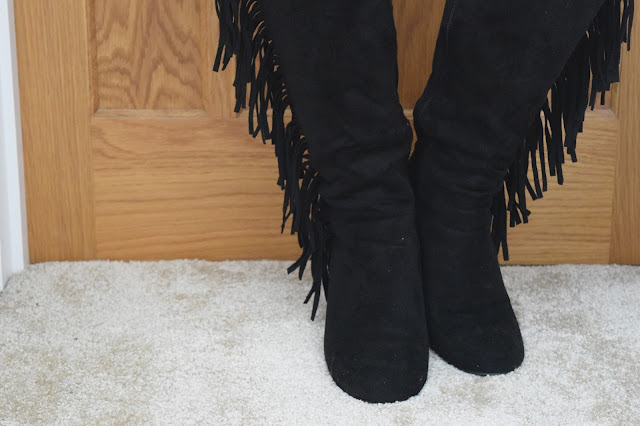 STYLE | Online Avenue Tassel Boots - Close Up Front View