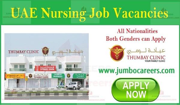 Nursing job openings in UAE, Job openings in Gulf countries,
