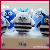 pajaritos azules amigurumi