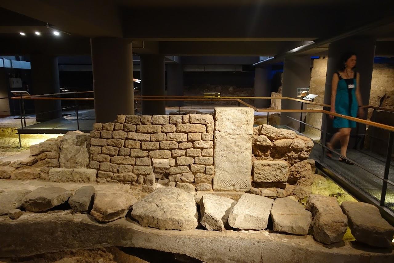 バルセロナ市歴史博物館(Museu d'Història de la Ciutat)の地下