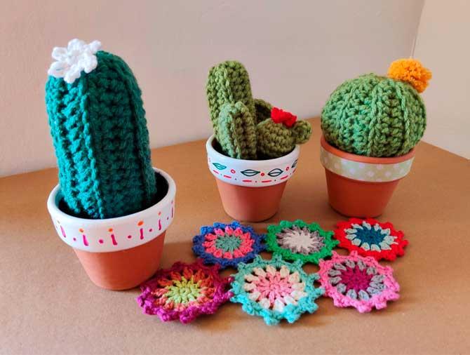 Cactus y grannys en crochet