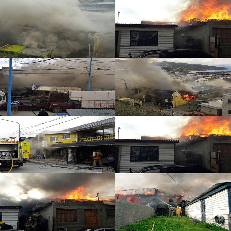 Incendio en Ushuaia