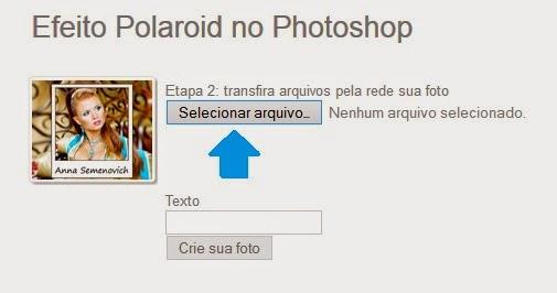 Escolha a foto que você deseja escrever