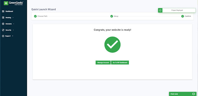 successfully install the wordpress on greengeeks hosting