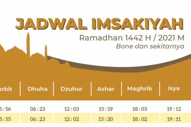 Download di Sini! Jadwal Imsakiyah Ramadan Kabupaten Bone, Mulai Waktu Buka Puasa, Imsak, dan Waktu Salat