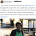 I don't think a story about a person with a degree working at a Starbucks is going to put a smile on my face…  Sounds like an awesome guy though (Picture)