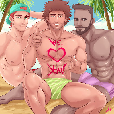Jaxinto Gay Art Happy Valentines Day