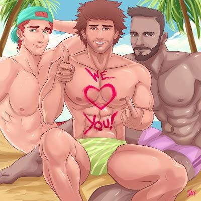 Jaxinto Gay Art Happy Valentines Day