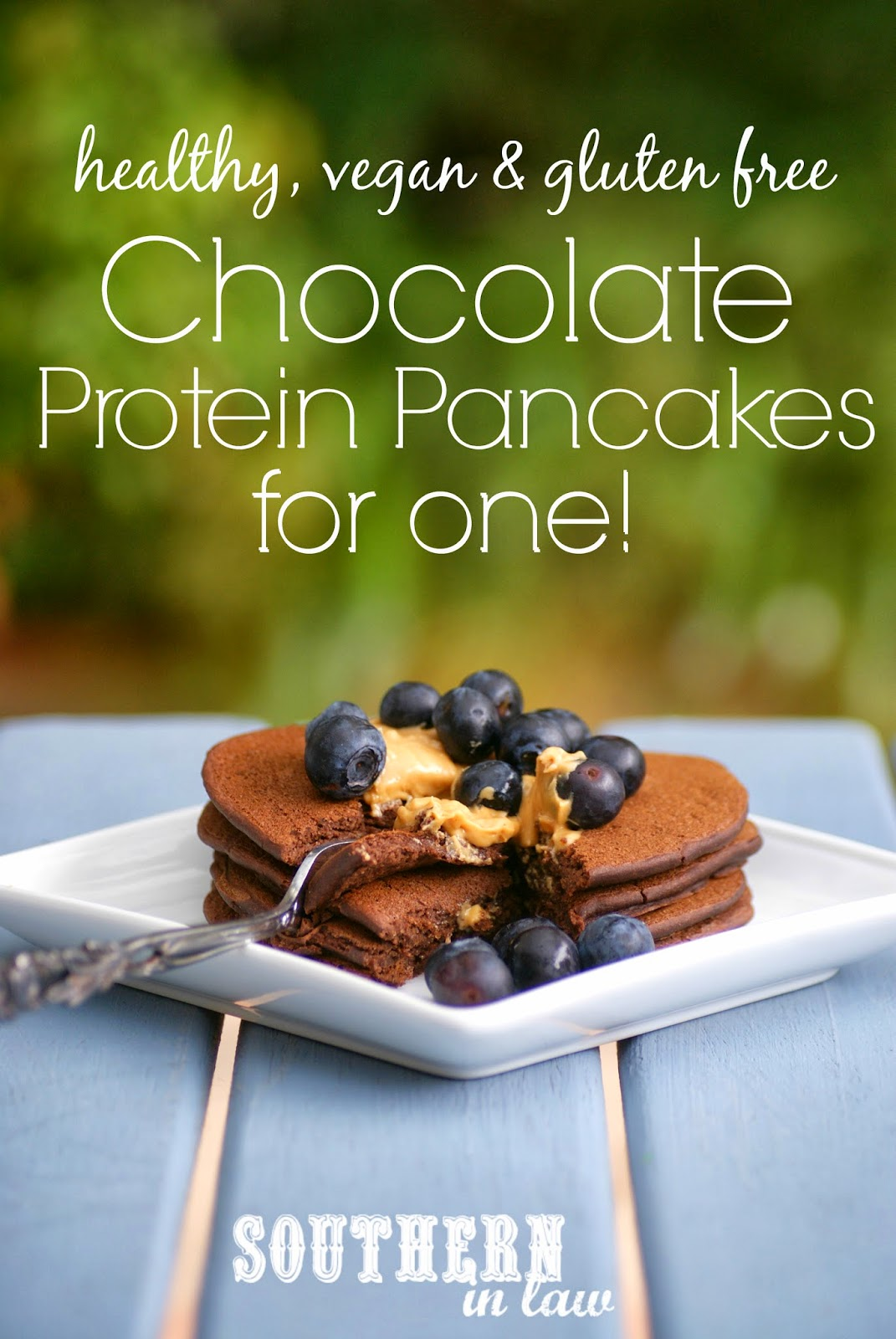Single Serving Chocolate Protein Pancakes - Vegan, Healthy, Gluten Free, Sugar Free Recipe