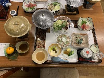 旅館大沼の夕食
