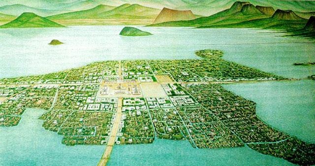 pulau buatan bangsa Aztek