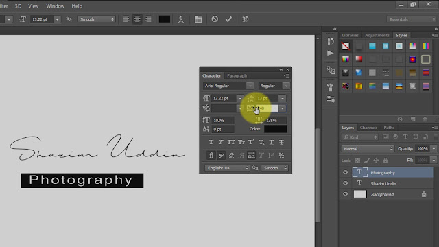 how to create own signature logo for photography screenshot 2