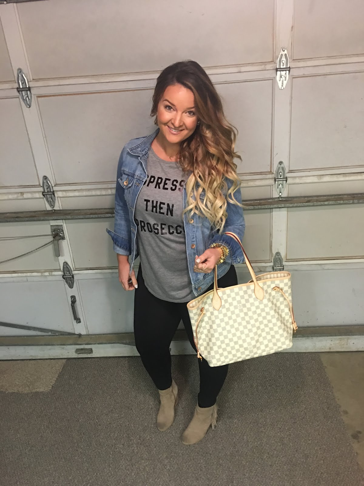 Espresso then Prosecco Tee by Colorado fashion blogger Delayna Denaye