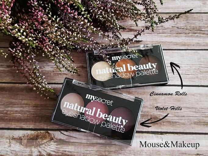 Mysecret Natural Beauty Eyeshadow Palette Cinnamon Rolls oraz Violet Hills