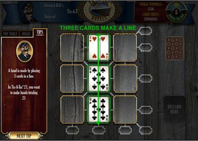 鐵達尼號賭船(Tic-A-Tac Royale),結合各種撲克牌博奕的油輪遊戲!