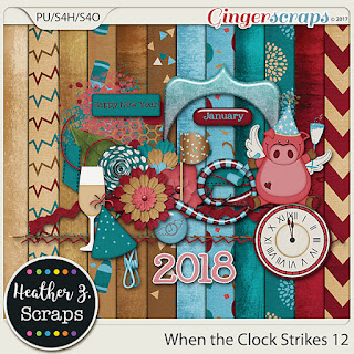 Ginger Scraps January 2018 - Mini Kit Challenge   from Heather Z Scraps  (Freebie Mini)