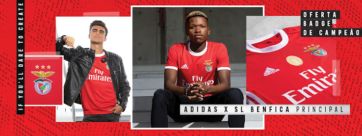 sports shoes c6c1a 13e3d Benfica 19-20 Home Kit Released - Footy Headlines