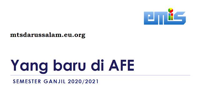Menu Baru Di AFE (Aplikasi Feeder EMIS) Semester Ganjil Tahun Pelajaran 2020-2021