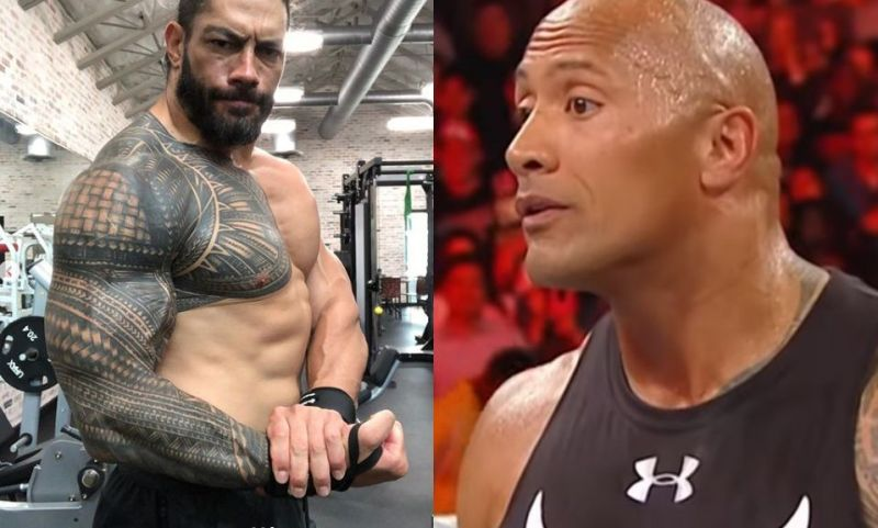 The Rock reacts to Roman Reigns showing off his incredible physique