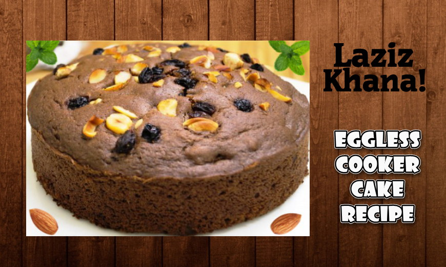 Eggless Cooker Chocolate Cake Recipe in Roman English