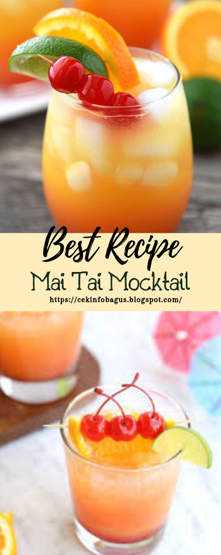 Mai Tai Mocktail #healthydrink #easyrecipe #cocktail #smoothie