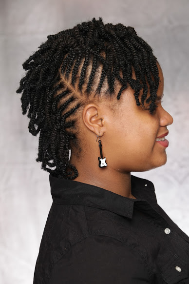 Nubian Twist Cornrow Mohawk Natural Hair Style