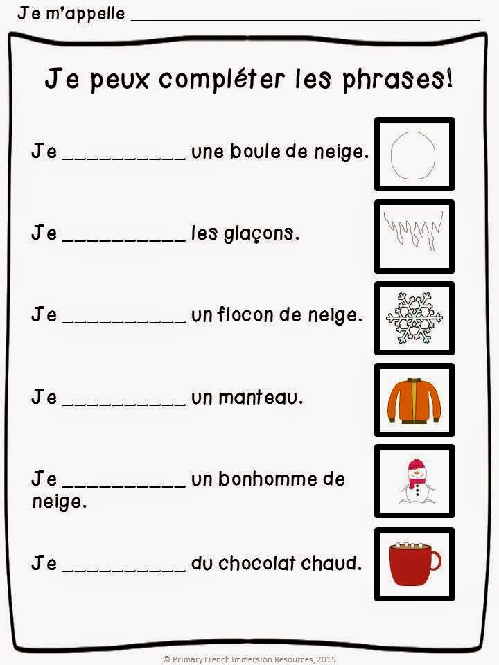 Assessment in Grade 1 FI - Primary French Immersion Resources