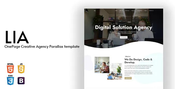 Best OnePage Creative Agency Parallax Template