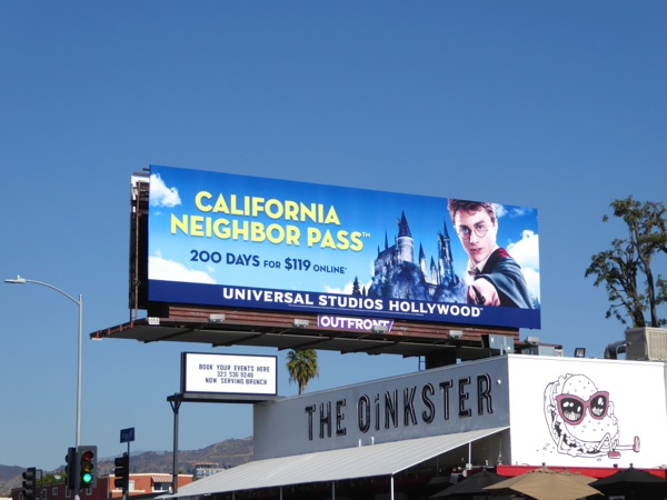 Universal Studios California Pass Harry Potter billboard